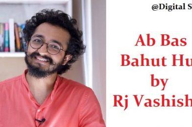 Bas Ab Bahot Hua by RJ Vashishth